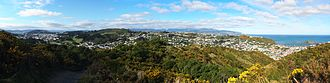 Island Bay, New Zealand - Panorama of City To Sea Walkway, showing Island Bay on the right