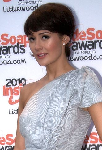 Jacqui McQueen - Claire Cooper (pictured) has said that her own rapport with Moss made Jacqui and Rhys' relationship realistic.
