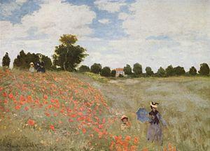 Coquelicot - Les Coquelicots by Claude Monet, 1873.