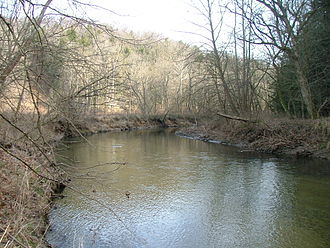 Clear Creek (Hocking River tributary) - Clear Creek in the Clear Creek Metro Park
