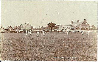 Clitheroe cricket club - Early Photo of Clitheroe cricket club circa 1904.