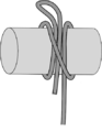 Clove hitch with draw-loop.png