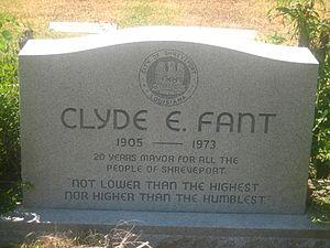 Clyde Fant - Grave of Clyde E. Fant in Shreveport's Forest Park Cemetery