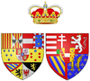 Coat of arms of Maria Clementina of Austria as Hereditary Princess of Naples.png