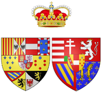 Description de l'image Coat of arms of Maria Clementina of Austria as Hereditary Princess of Naples.png.
