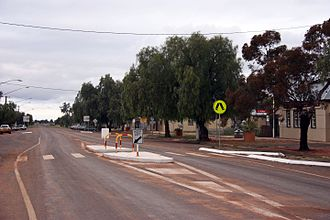 Ivanhoe, New South Wales - Cobb Highway in Ivanhoe
