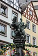 Cochem, Martinsbrunnen, Bronzestatue 1935, Anton Nagel.JPG