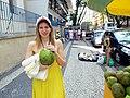 Coconut drink - Copacabana beach and neighborhood - Rio de Janeiro, Brazil (5268887965).jpg