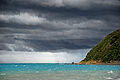 Cold front approaching Cook Strait, New Zealand, 26 December 2007.jpg