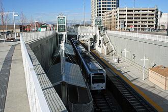 Colorado station - The below grade Colorado RTD station