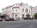 Community Youth Center. Listed Art Nouveau corner building planned by Komor & Jakab (1906), Kecskemét 2016 Hungary.jpg