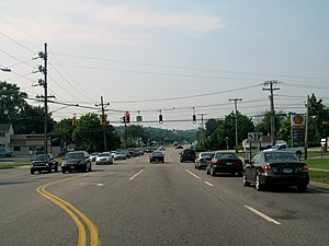 Connecticut Route 12 - Route 12 in Groton near its southern end