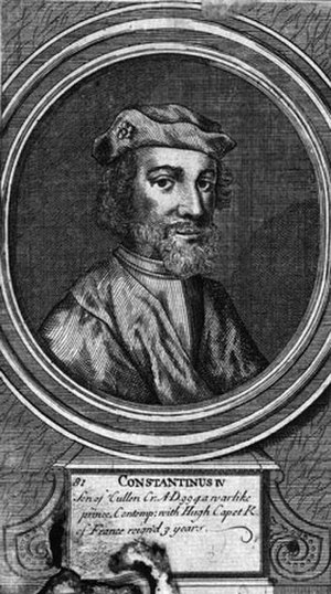 Constantine III of Scotland - 17th-century portrait of Constantine, when he was reckoned as Constantine IV