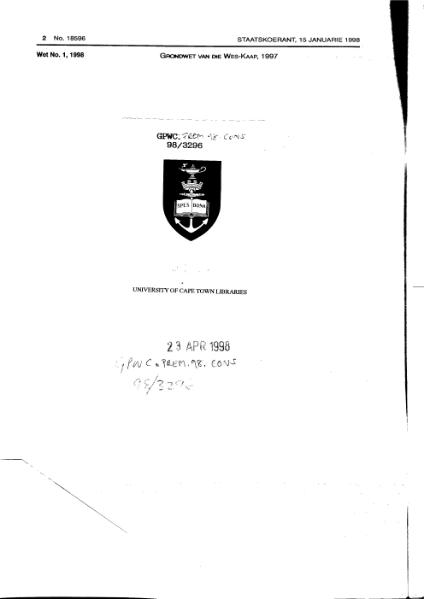 File:Constitution of the Western Cape 1997 from Government Gazette.djvu