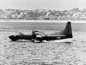 Convair R3Y Tradewind - The Convair XP5Y-1 prototype in 1950. It first flew on 18 April 1950 at San Diego and crashed in 1953.