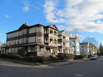 Worcester, Massachusetts - Three-deckers on Houghton Street