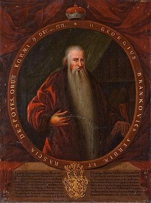 Đorđe Branković (count) - Portrait of Đorđe Branković, made before 1730