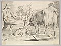 Country Scene with a Peasant, Cow and Calf MET DP822435.jpg