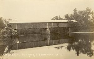 Brownfield, Maine - Image: Covered Bridge, East Brownfield, ME