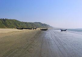 Cox's Bazar beach regarded as world's longest natural beach.
