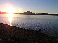 Crescent Lake at sunrise.JPG