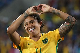 Paris Saint-Germain Féminines - Cristiane holds the club record for most goals in the UEFA Women's Champions League.