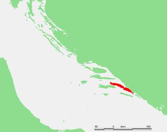 Pelješac - Location of Pelješac on the eastern Adriatic coast
