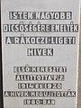 Cross (1980), plaque, Tulipán tér, 2019 Dunaharaszti.jpg