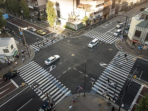 Cross Route 17 and 254 in Hongo-3 sa