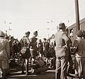 Cserkészek állnak a Kelenföldi pályaudvaron, 1939. Fortepan 92366.jpg
