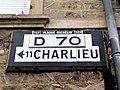 Cuinzier - Plaque Michelin TCF D70 dir. Charlieu (août 2020).jpg