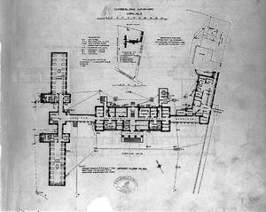 Cumberland Infirmary - Cumberland Royal Infirmary Plan from 1893