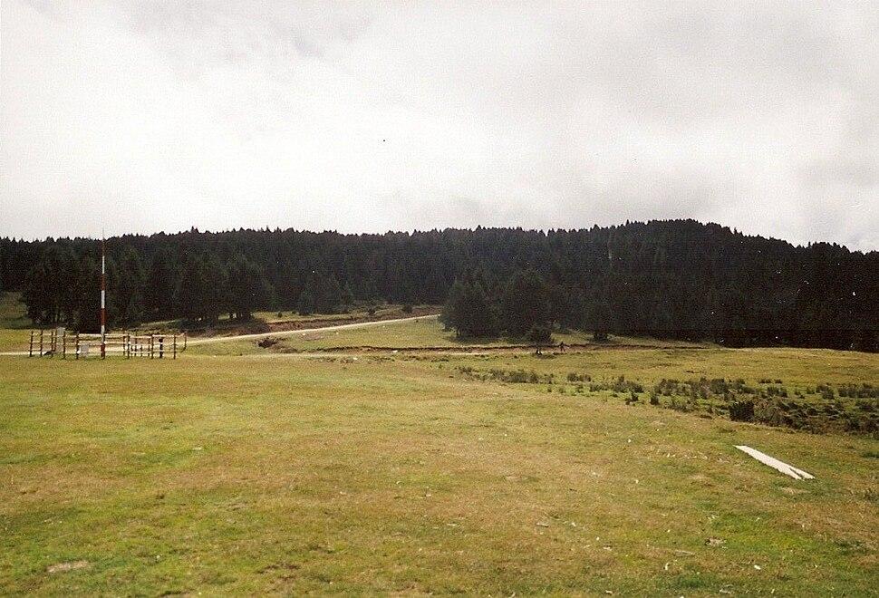 Départ des pistes et sentiers du Plateau de Beille