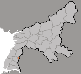 Location of Ch'ŏllima Wards