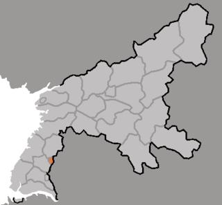 Chollima-guyok County in South Pyŏngan, North Korea