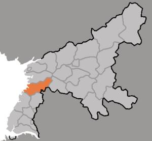 Pyongwon County - Image: DPRK2006 Pyongnam Pyongwon