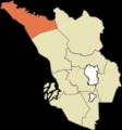 Daerah Sabak Bernam Highlighted in the State of Selangor, Malaysia.png