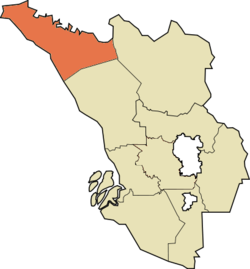 Location of Sabak Bernam沙白安南县