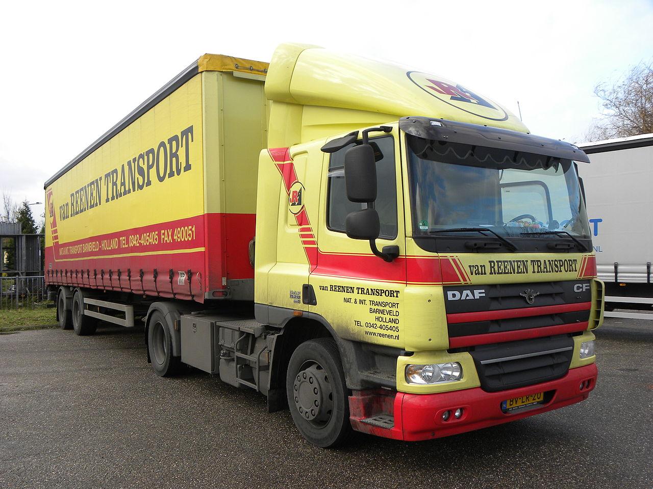 Van Reenen Barneveld.File Daf 75 310 Euro 5 Van Reenen Transport Barneveld
