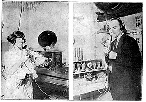 KTCK (AM) - Image: Dallas radio wedding 1922AUG05