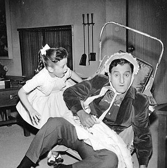 Danny Thomas - Danny plays house with television daughter Linda (Angela Cartwright).
