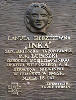 Afbeeldingsresultaat voor Danuta Siedzikówna