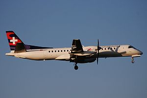 Darwin Airline - Darwin Airline Saab 2000 in the airline's own livery