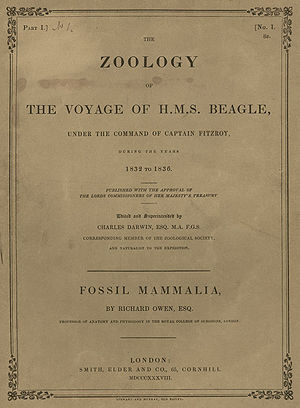 Zoology of the Voyage of H.M.S. Beagle - Part 1. Cover