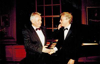 David M. Arden - David Arden (rt.) with Henryk Górecki at Kosciuszko Foundation concert New York City