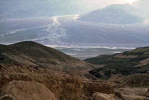Dante's View - Dante's View, Salt rivers descends from the Panamint Range