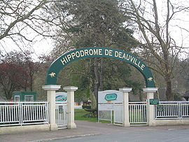 Entrance of the Deauville-Clairefontaine Racecourse