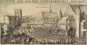 Johan van Oldenbarnevelt - Engraving depicting Van Oldenbarnevelt's execution.