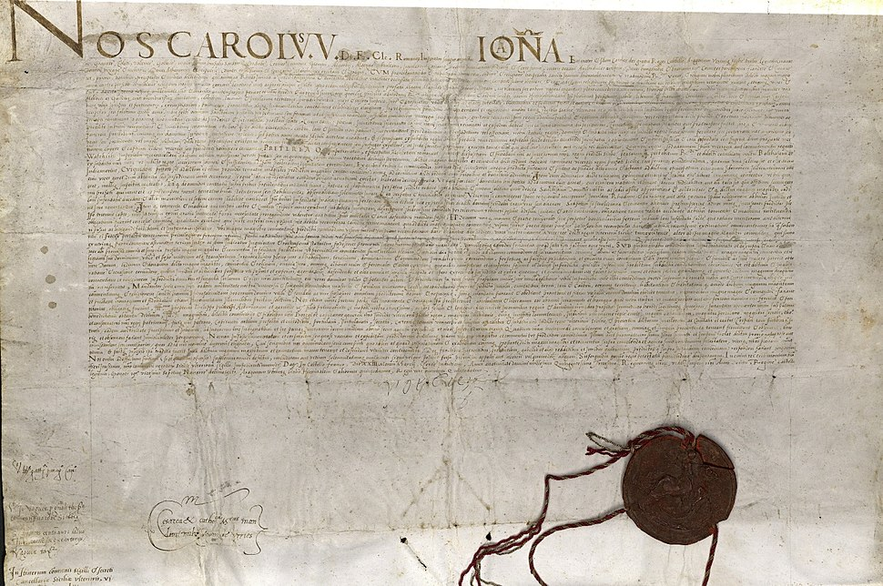 Deed of Donation, 1530