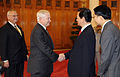 Defense.gov News Photo 101011-F-6655M-009 - Secretary of Defense Robert M. Gates is greeted by Vietnamese Prime Minister Nguyen Tan Dung in the prime minister s office in Hanoi Vietnam on.jpg